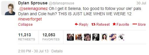 dylan sprouse tweet