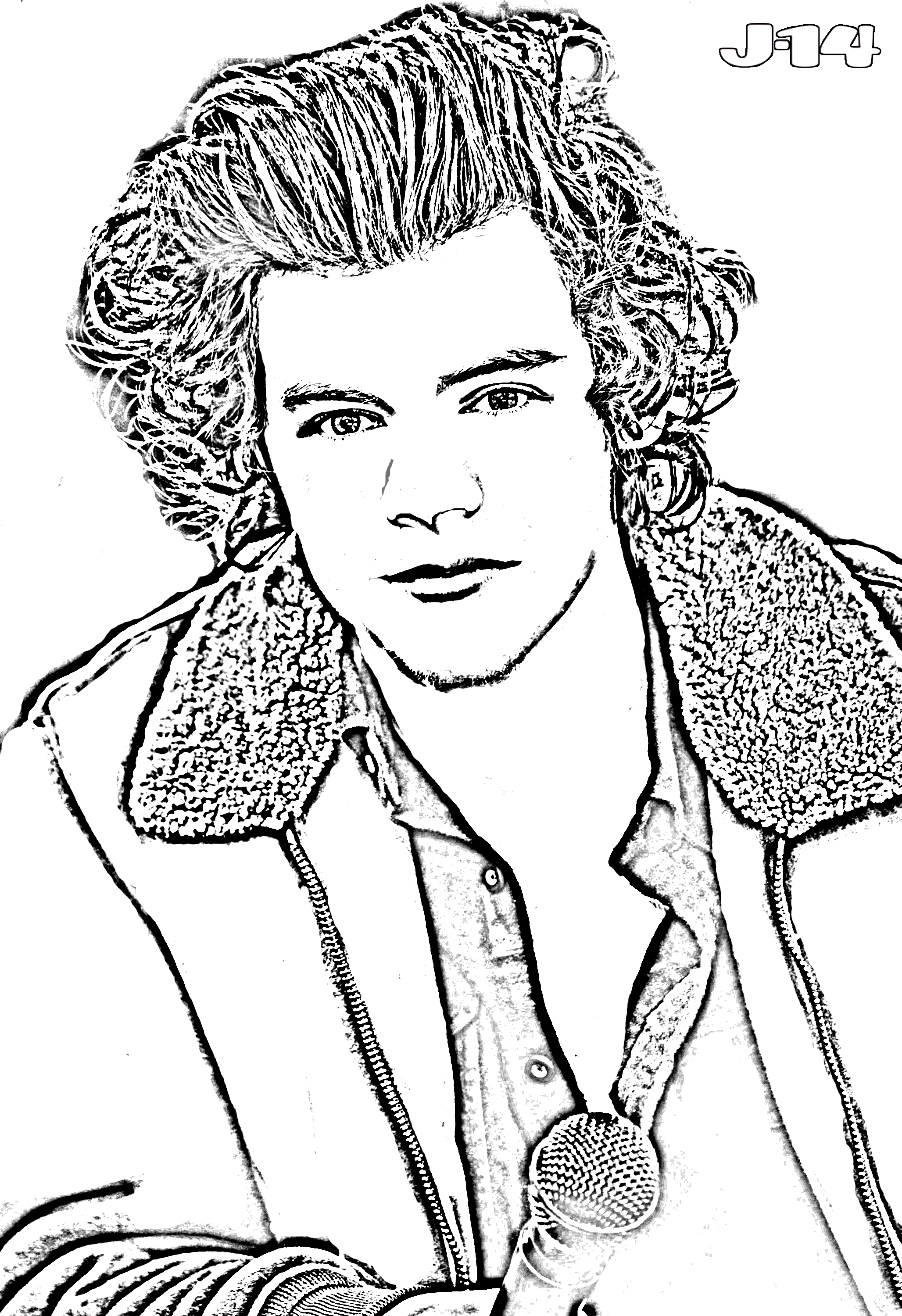 10 Printable One Direction Coloring Pages - J-14