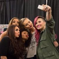 little-mix-demi-lovato-selfie