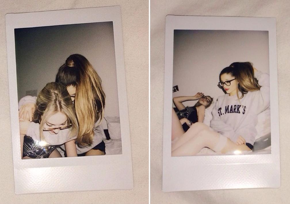 ariana-grande-liz-gillies-friendship-is-forever-polaroids