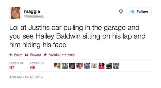 tweet about justin