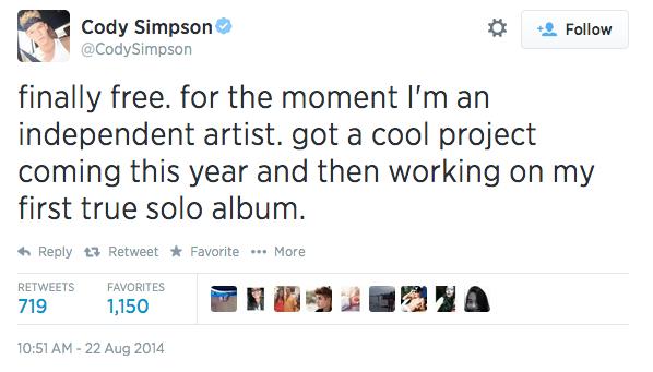 cody simpson tweet