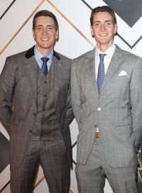 James and Oliver Phelps on the red carpet at the BBC Sports