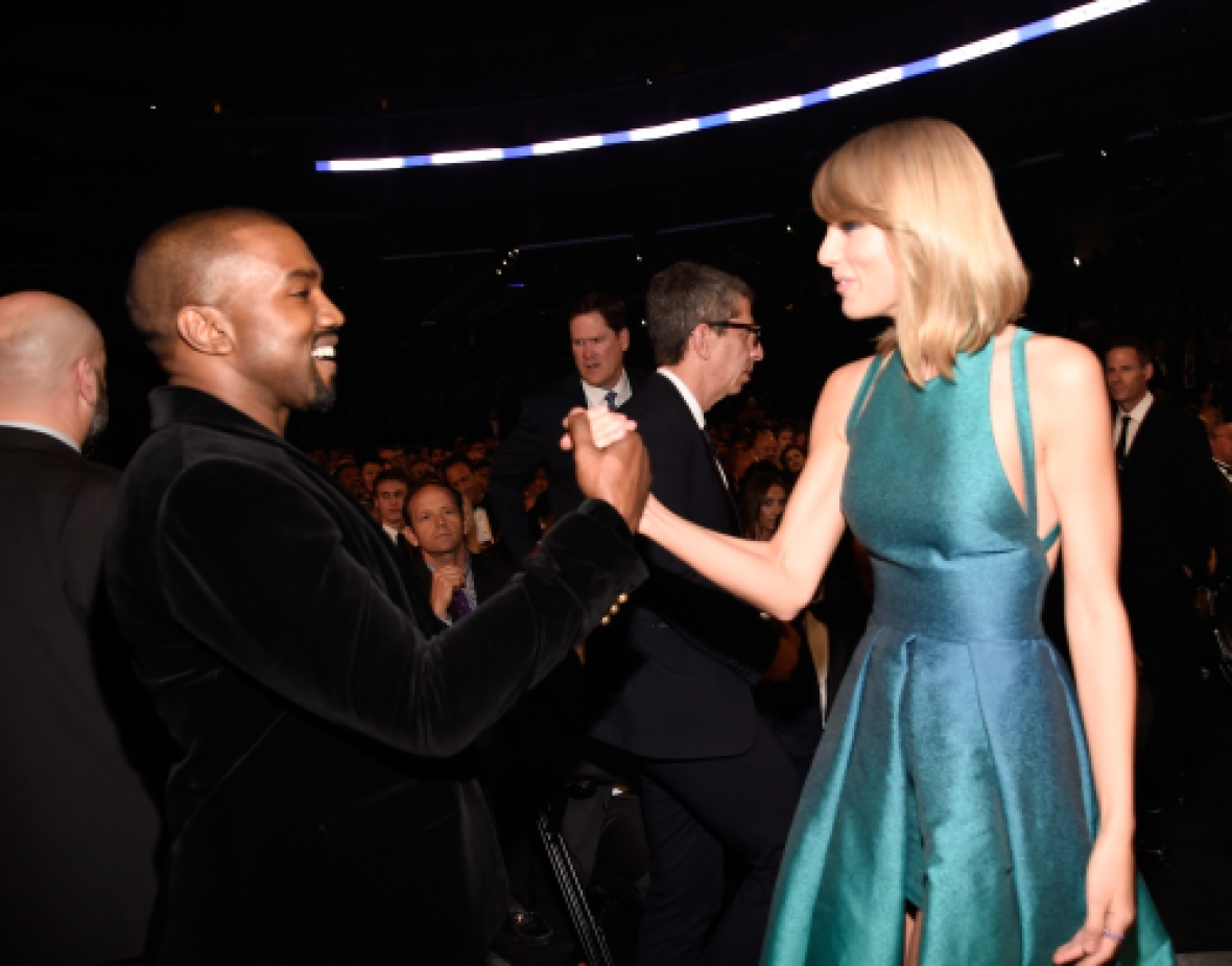 kanye west taylor swift grammys 2015