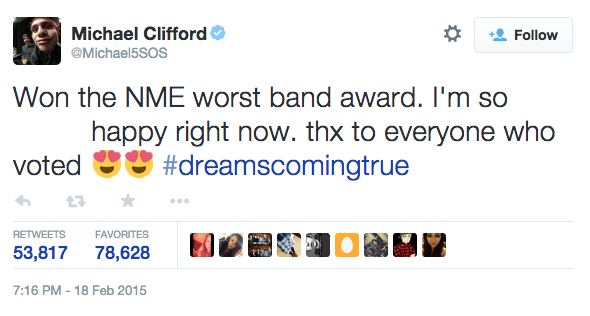 michael clifford tweet 5sos worst band