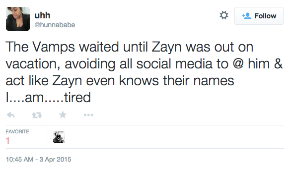 the vamps zayn tweet