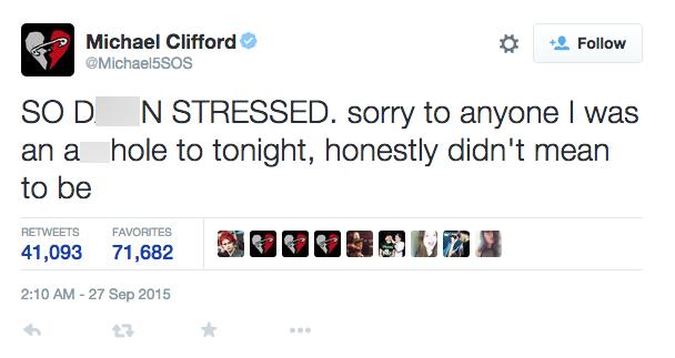 michael clifford fans tweet