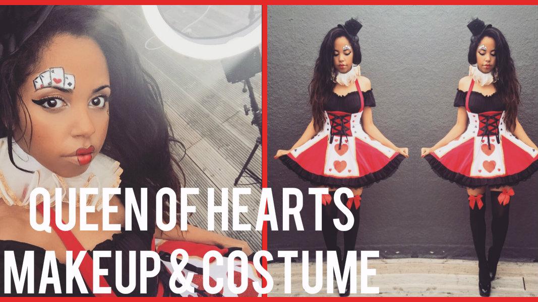 VIDEOQueen of Hearts Halloween Makeup Tutorial