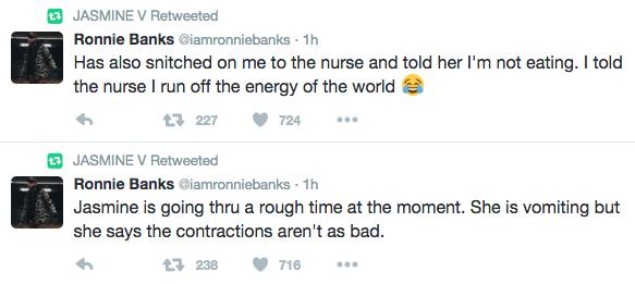 jasmine villegas labor tweets