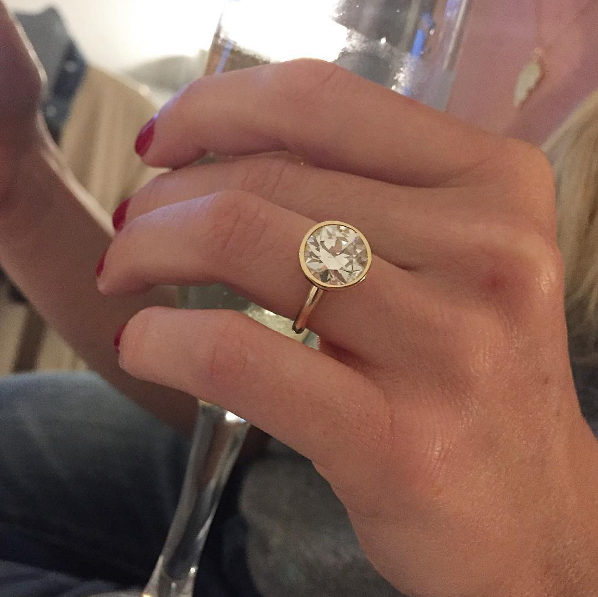 becca tobin engagement ring zach martin