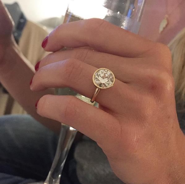 becca tobin engagement ring zach martin