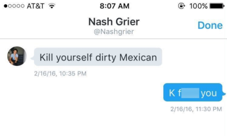 nash grier fake dm