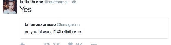 bella thorne bisexual