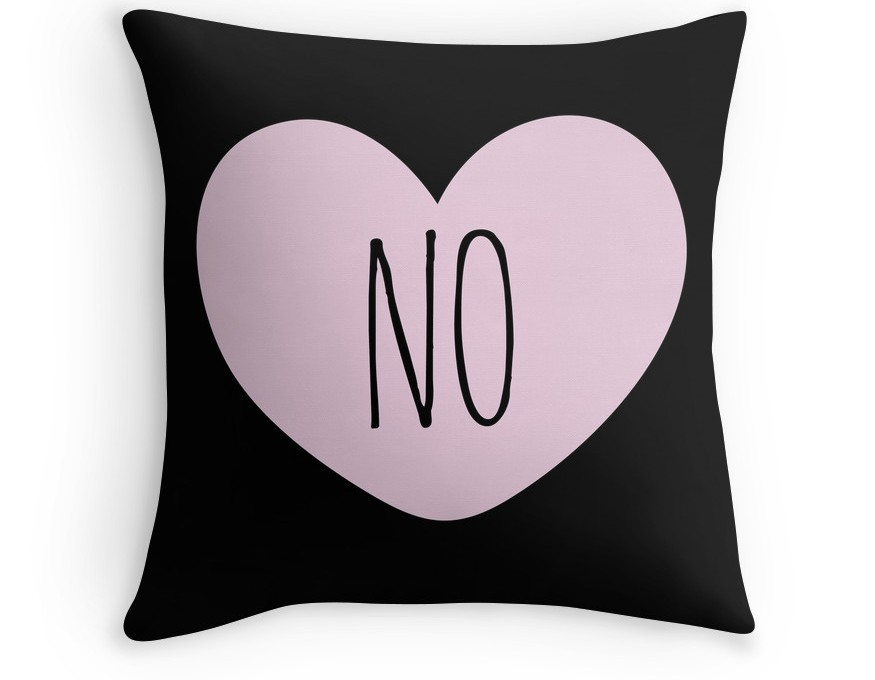 no heart pillow valentine's day