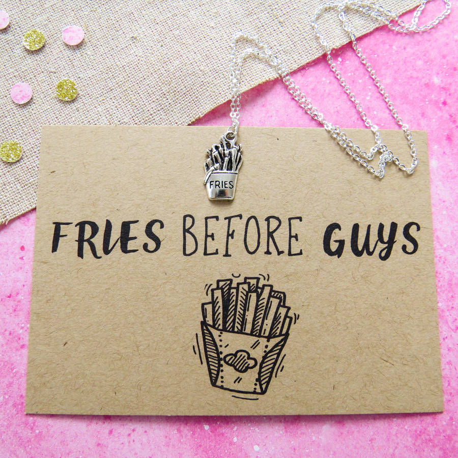 fries before guys necklace