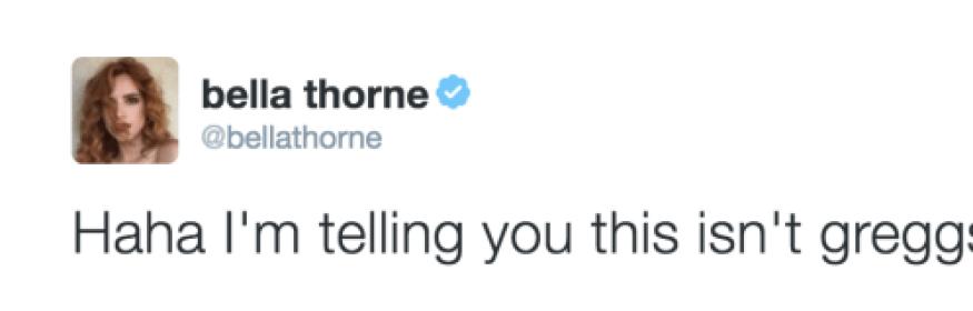 bella thorne gregg