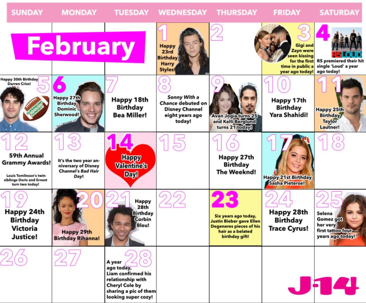february calendar j-14 8