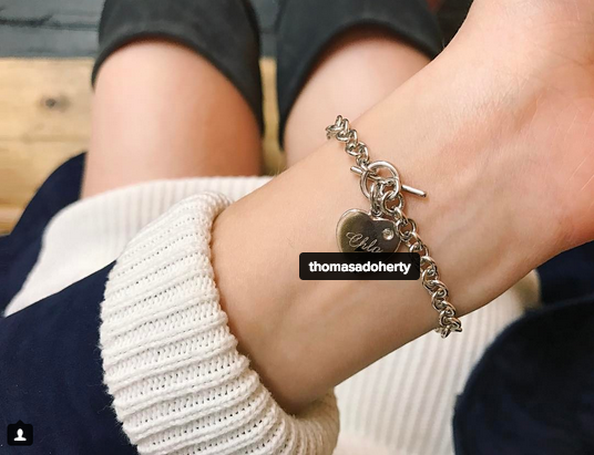 dove cameron thomas doherty bracelet
