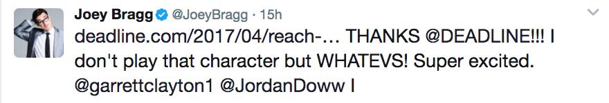 joey bragg tweet