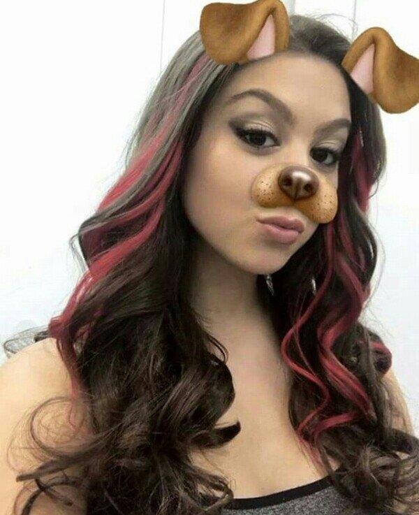 kira kosarin red hair selfie