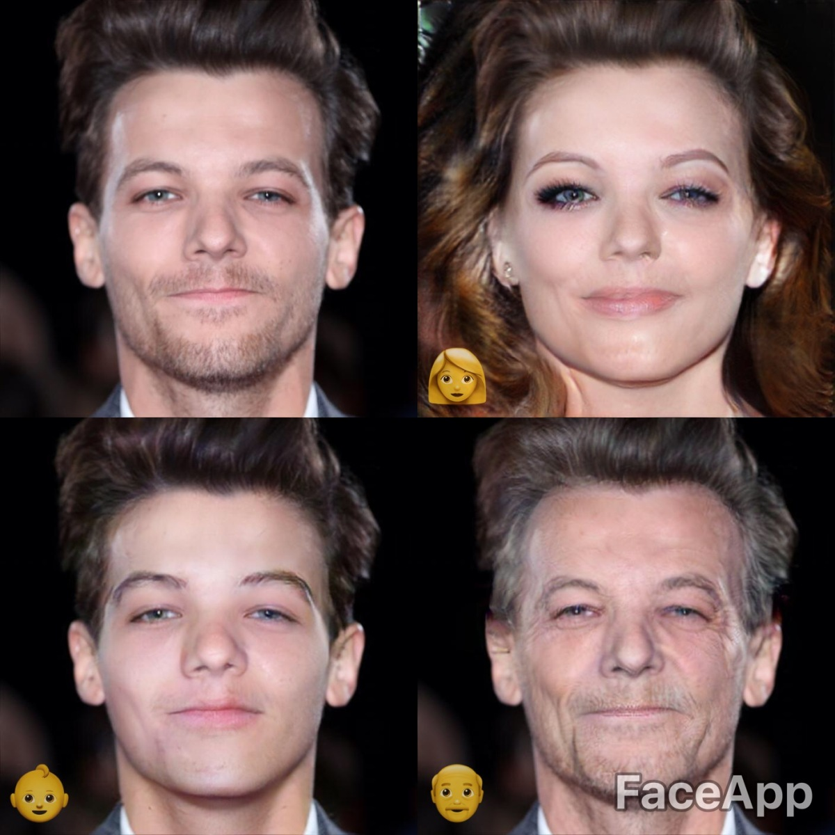 Face App: See What Celebrity Guys Look Like as Girls, Older, & Younger