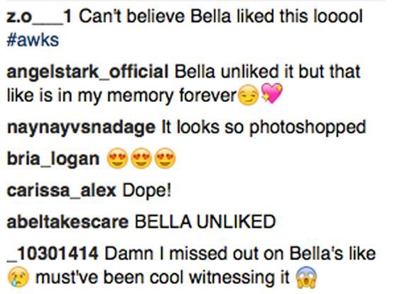 fans react to bella hadid