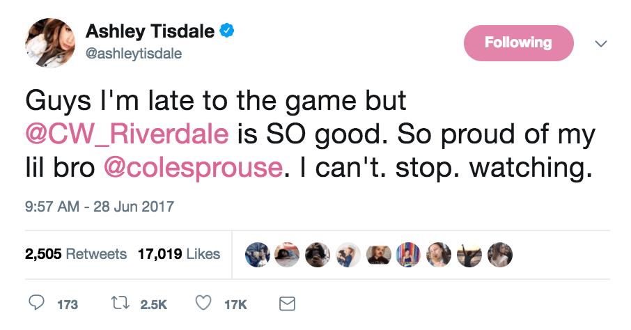 ashley tisdale tweet