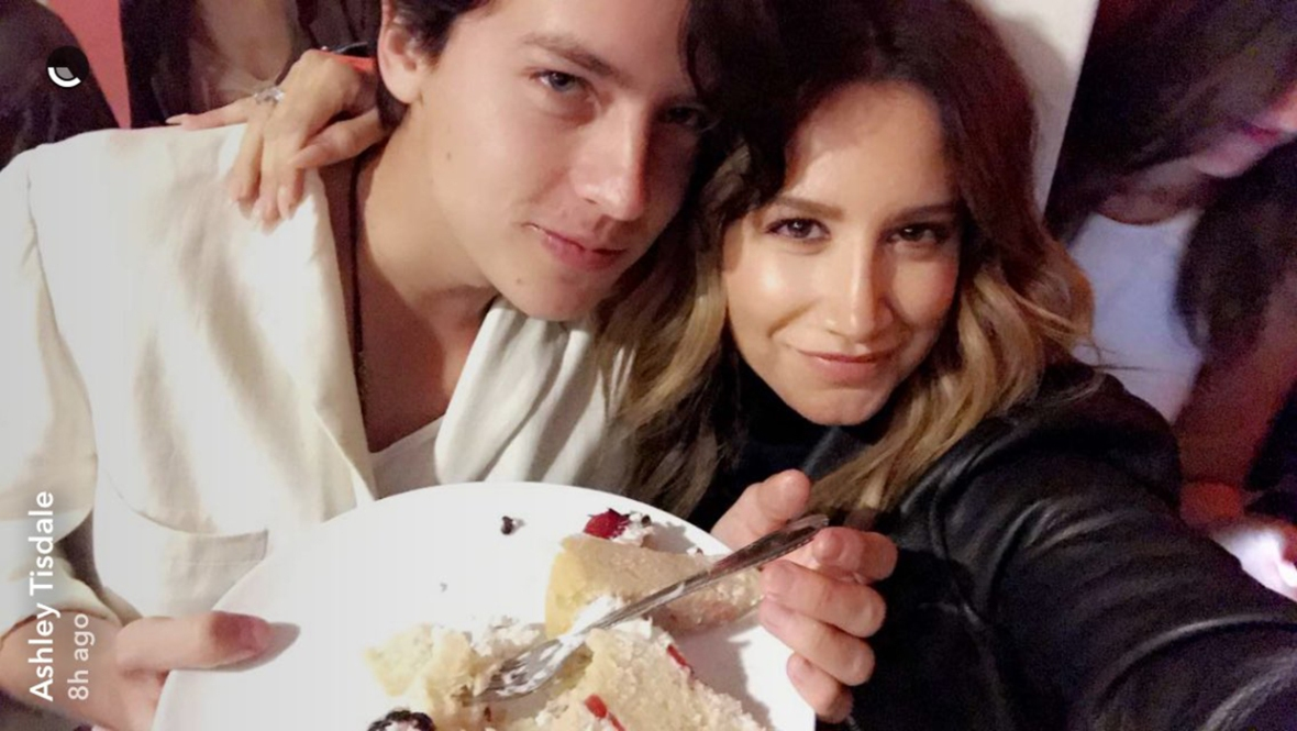 ashley tisdale and cole sprouse reunion snapchat