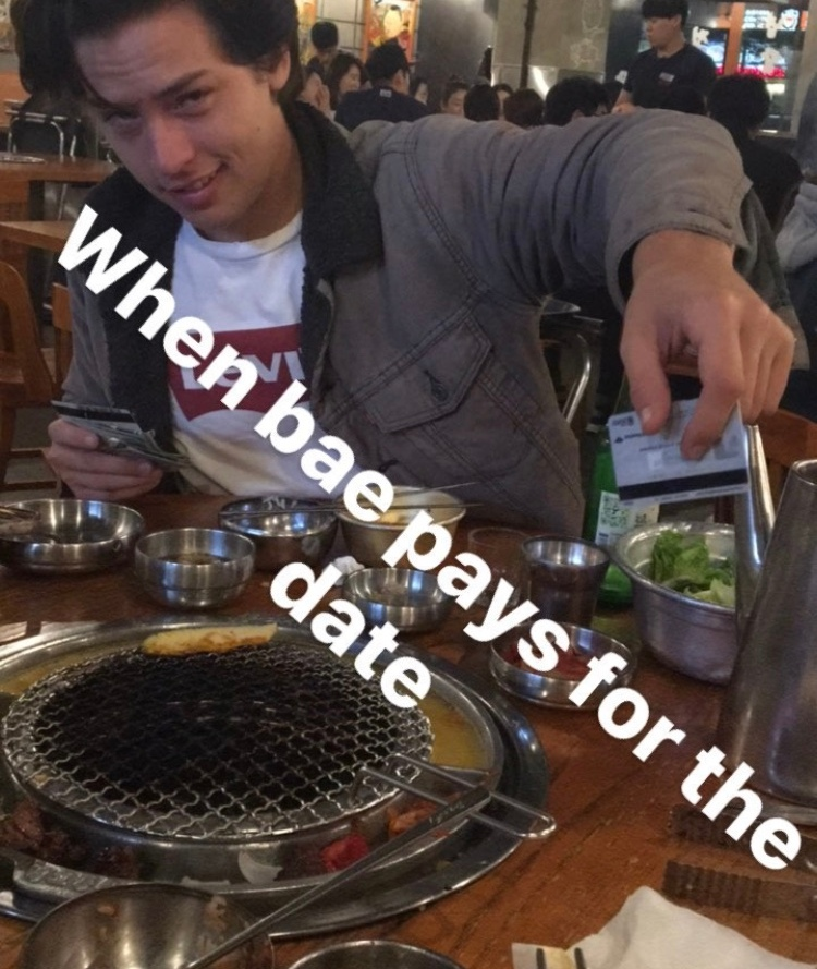 cole and dylan dinner instagram story