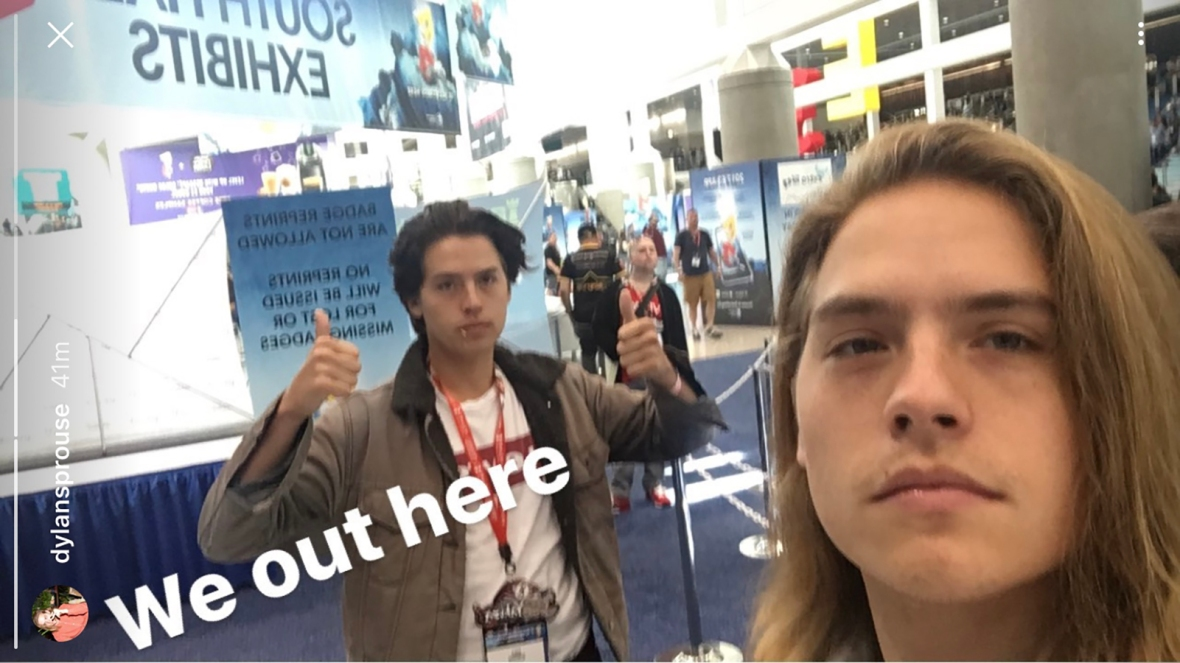 cole and dylan selfie instagram story
