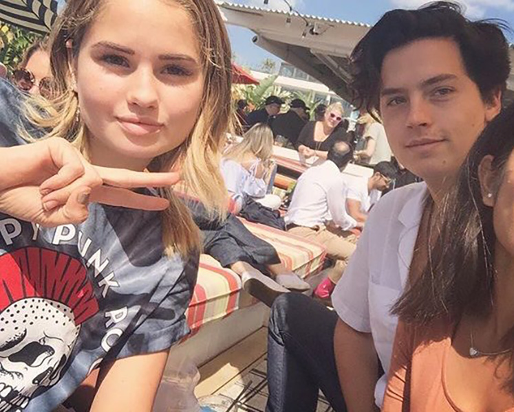 debby ryan cole sprouse selfie