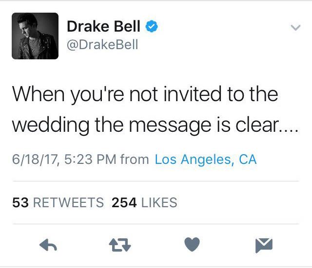 drake bell josh peck wedding tweet 1