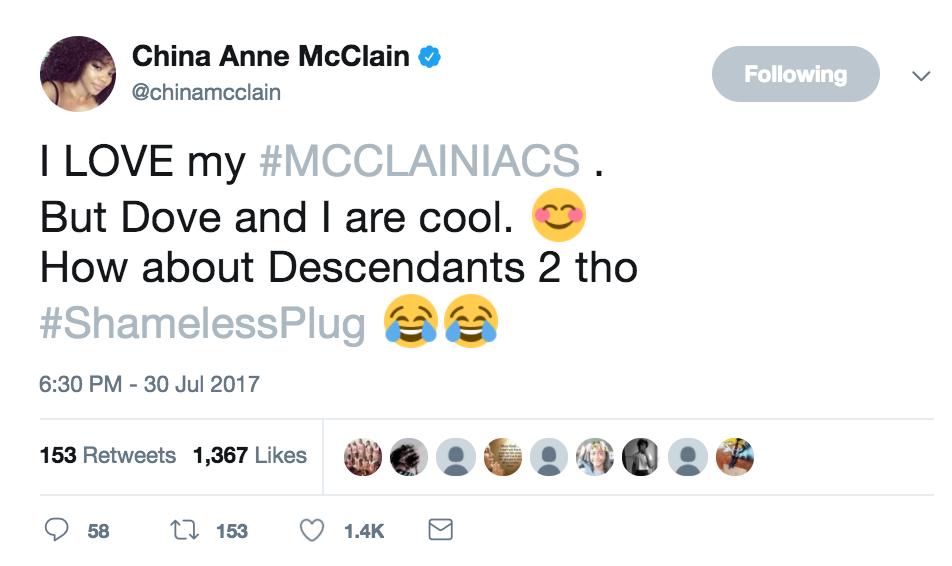 china mcclain tweet 2