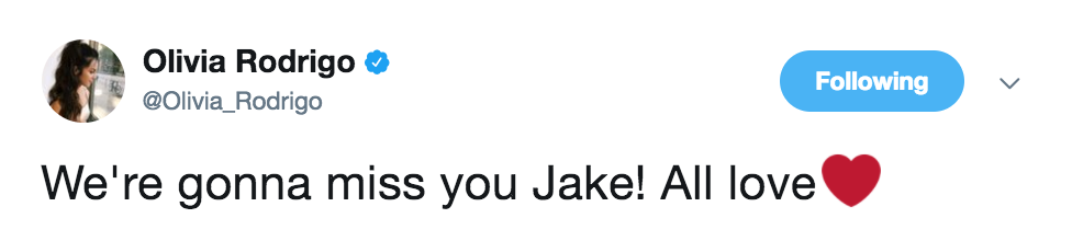 olivia rodrigo jake paul tweet