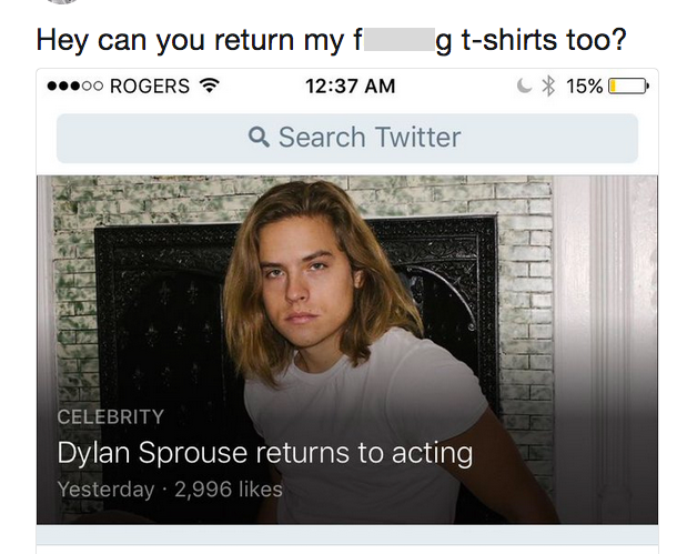 cole dylan reaction tweet