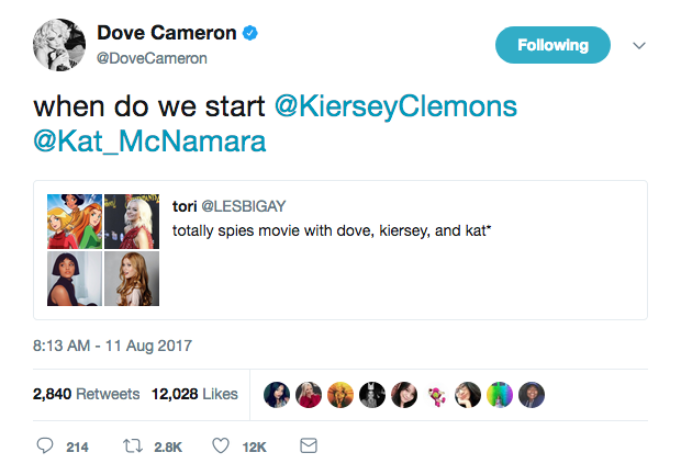 dove cameron totally spies