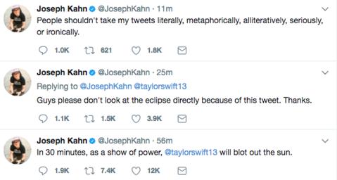 joseph kahn tweets