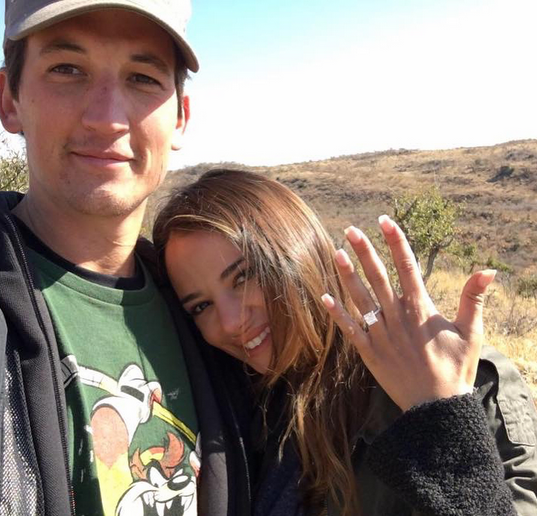 miles teller keleigh sperry engagement ring