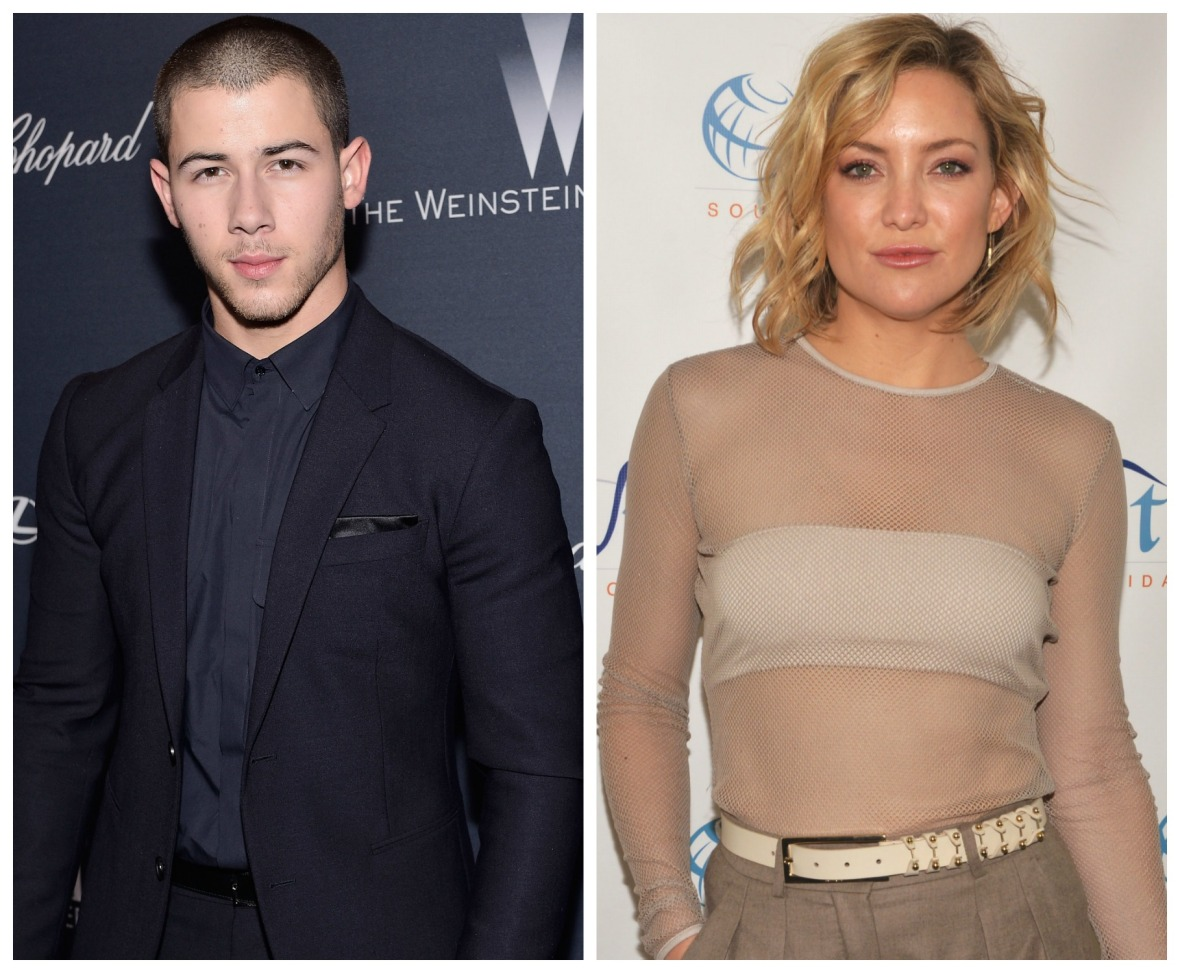 nick jonas kate hudson getty images