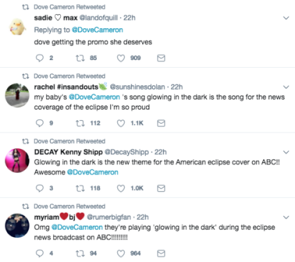 dove cameron eclipse tweets