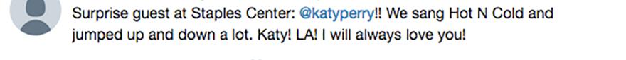 taylor swift katy perry tweet