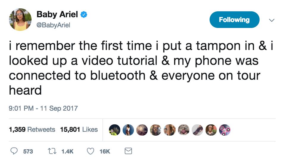 baby ariel embarrassing tweet