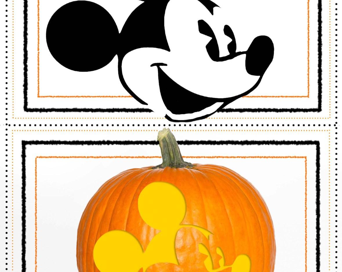 disney pumpkin stencil