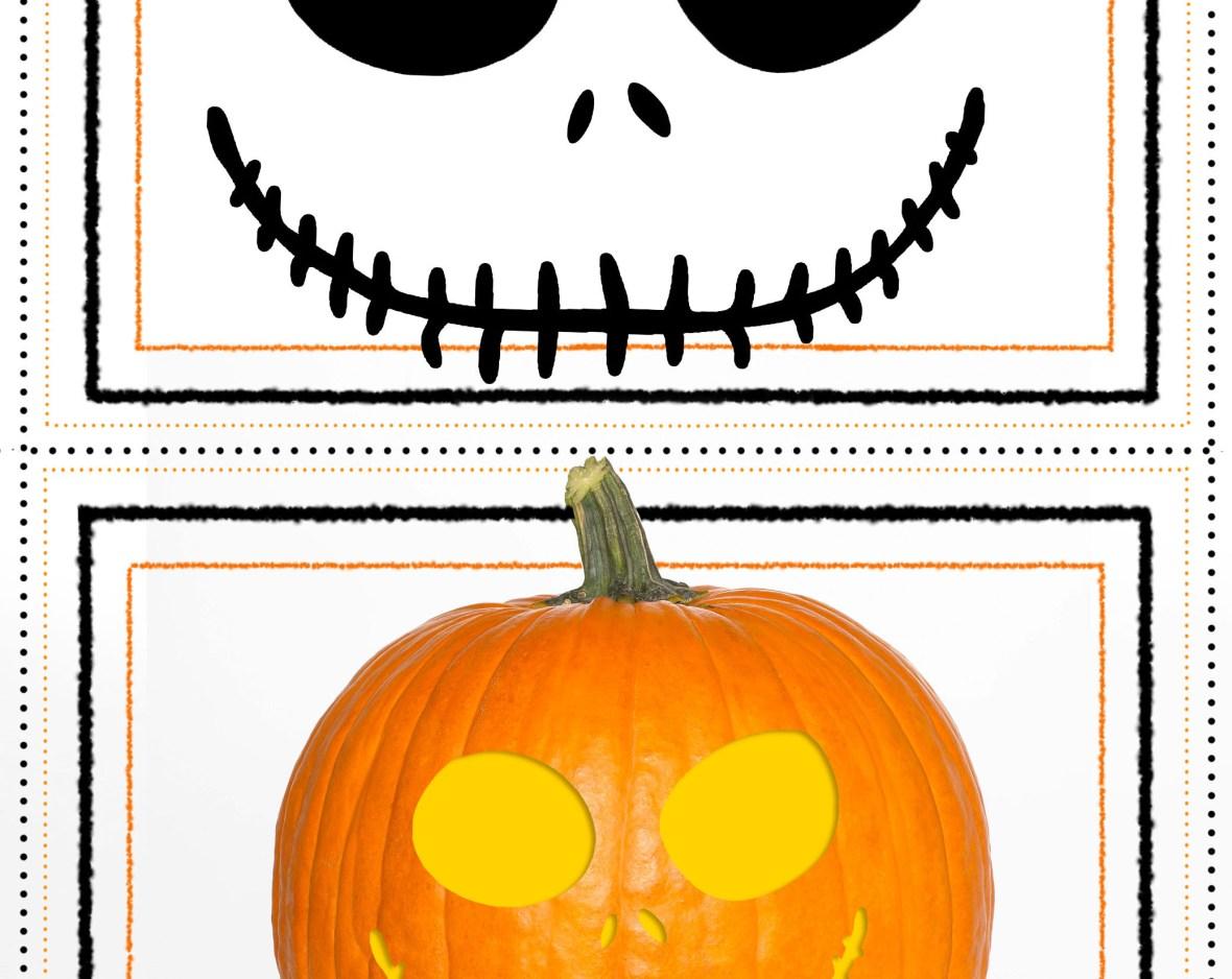 nightmare before christmas pumpkin stencil