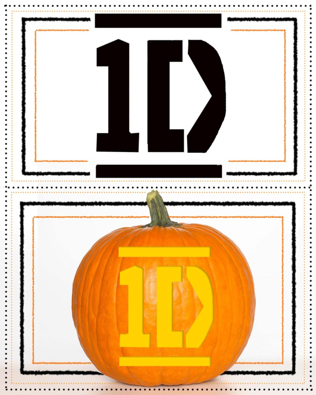 one direction pumpkin stencil