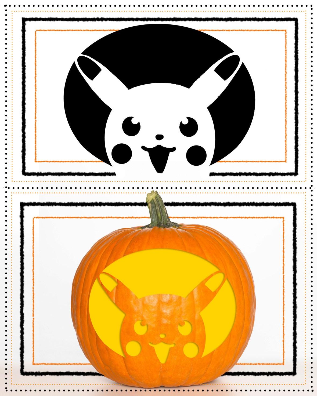 pokemon pumpkin stencil