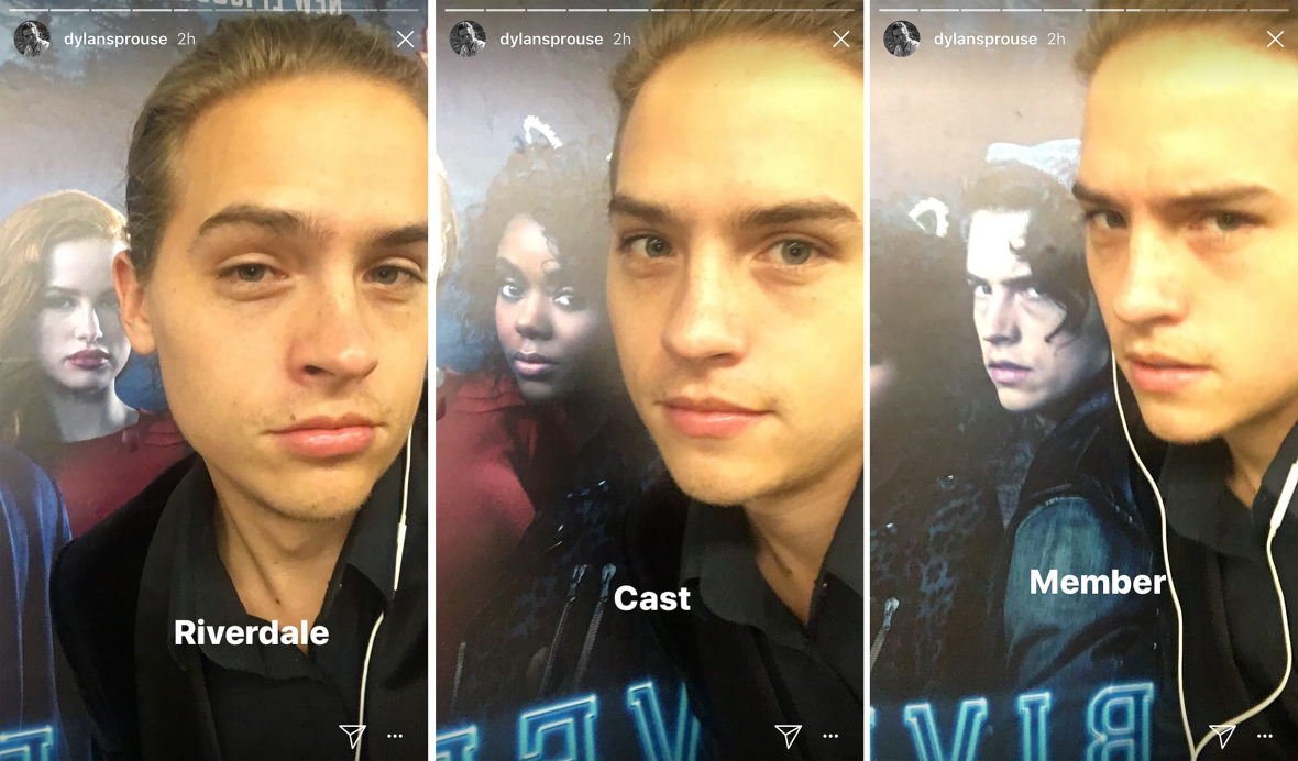 dylan sprouse riverdale instagram stories 2