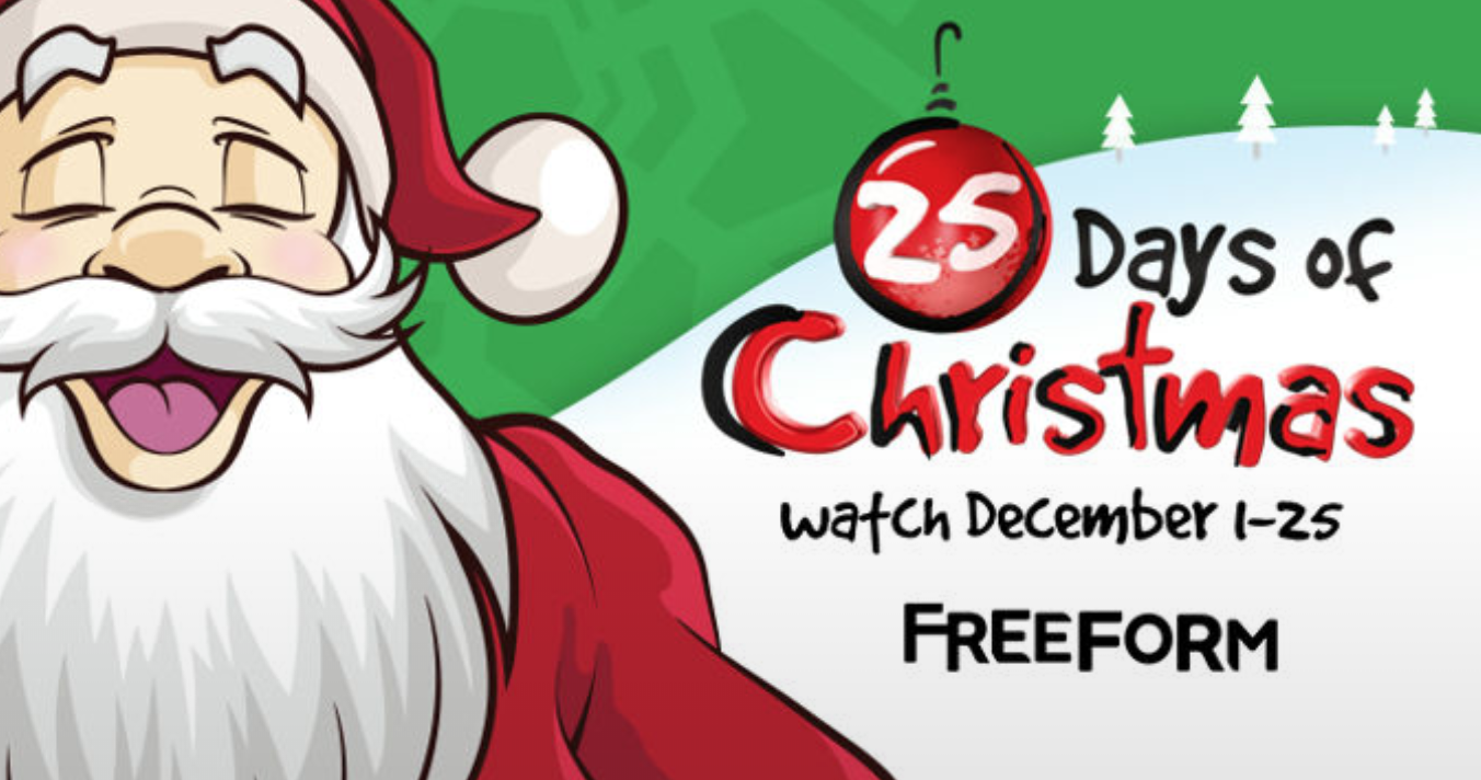 25 Days Of Christmas.This Year S 25 Days Of Christmas Lineup On Freeform Is Jam