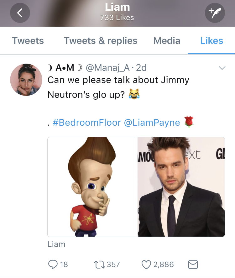 liam payne jimmy neutron tweet
