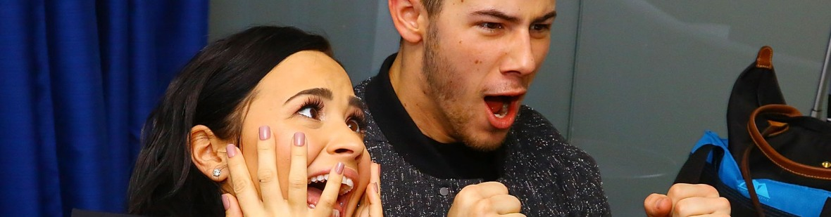 nick jonas demi lovato getty